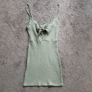 ribbed fitted dress